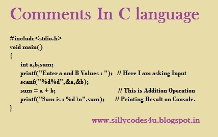 Comments in C Programming