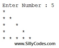 Hallow-right-angle-triangle-star-pattern-in-programming