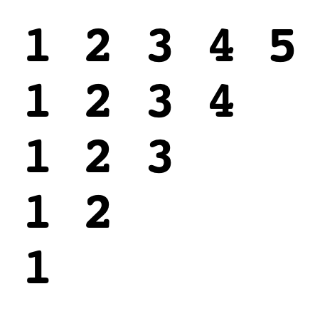 Invarted-traingle-number-Pattern-in-c