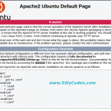 Apache welcome default page