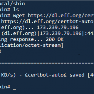 Creating and installing Free SSL certificates using certbot