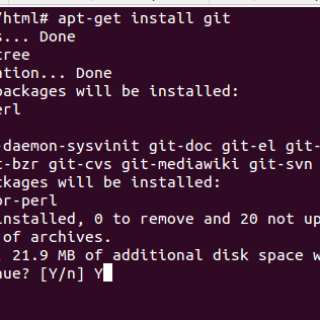Installing git on ubuntu based systems