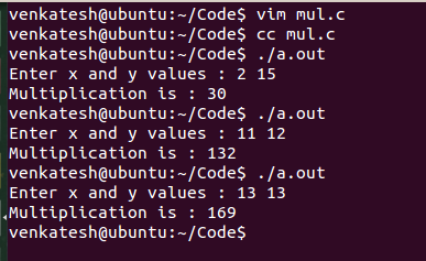 muliplying without using multiplication operator in C and C++