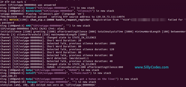 Asterisk Answering Machine Detection