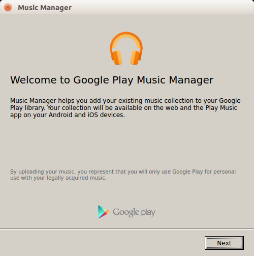 Google Play Music manager Installation