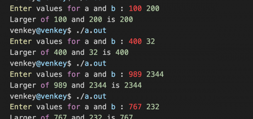 Largest-of-two-numbers-using-conditional-operator